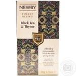 Newby Black tea & Thyme black tea 25pcs 50g