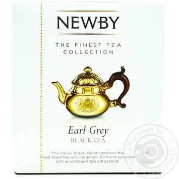 Чай чорний Newby Earl Grey 15пак