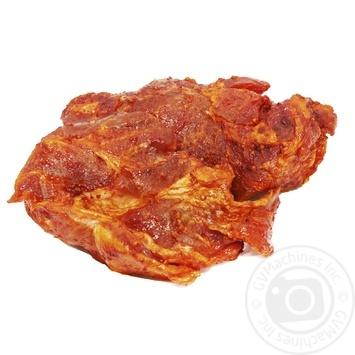Свинина стейк из ошейка в маринаде
