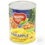Ананас Tropic life кільця в сиропі 580мл - купити, ціни на Фуршет - фото 2