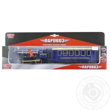 Tekhnopark Toy Steam train with wagon light sound