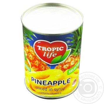 Ананас Tropic life кольца в сиропе 580мл - купить, цены на Фуршет - фото 3
