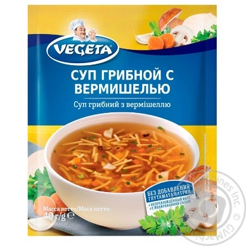 Vegeta Mushroom soup with vermicelli 40g - buy, prices for MegaMarket - image 1