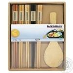 Набор палочек для суши Fackelmann 4 пары + ложка для риса