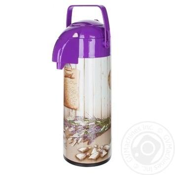 Термос с помпой Banquet Lavender 1,9л