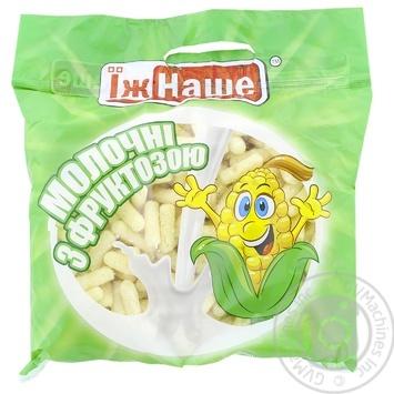 Палички кукурудзяні Їж Наше молочні з фруктозою 150г - купити, ціни на Novus - фото 1