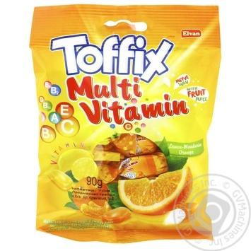Цукерки жувальні Toffix Multivitamin Mix 90г - купити, ціни на Ашан - фото 1