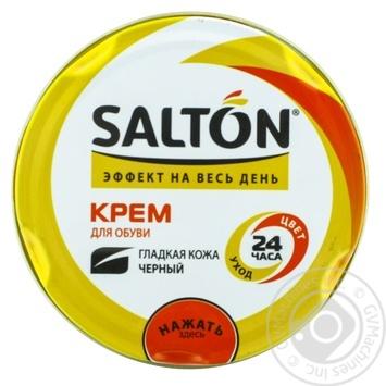 Крем для взуття з гладкої шкіри Salton чорний 50мл - купити, ціни на Varus - фото 1