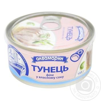 Тунец Аквамарин филе в собственном соку 185г - купить, цены на Фуршет - фото 6