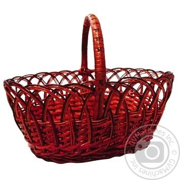 Плетена корзина - купити, ціни на МегаМаркет - фото 1