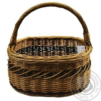 Корзина плетена Горішок - купити, ціни на МегаМаркет - фото 1