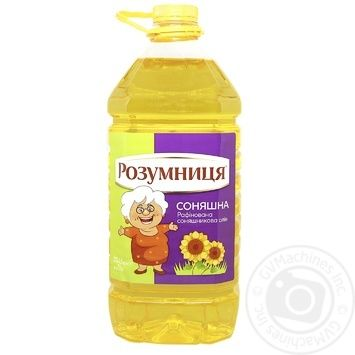 Rozumnytsya Refined Sunflower Oil 5l - buy, prices for MegaMarket - image 1
