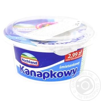 Крем-сир Hochland Kanapkowy вершковий 130г - купити, ціни на МегаМаркет - фото 1