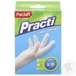 Рукавички Paclan латексні 10шт М