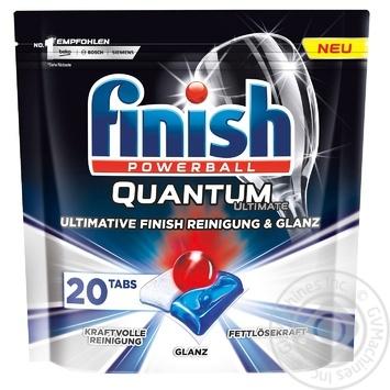 Таблетки для посудомоечных машин Finish Quantum Ultimate 20шт. - купить, цены на Ашан - фото 1