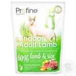 Сухой корм для кошек живущих в помещении Profine Cat Indoor ягнёнок 300г