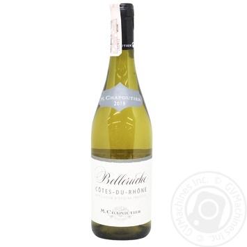 M.Chapoutier Cotes du Rhone Belleruche White Dry Wine 13.5% 0.75l - buy, prices for CityMarket - photo 1