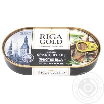 Шпроты Riga Gold в масле 190г - купить, цены на Novus - фото 1