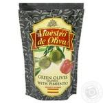 Оливки зеленые Maestro Dе Oliva с перцем 170мл