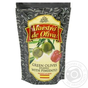 Оливки зеленые Diva Oliva с перцем 170мл