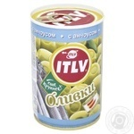 Оливки ITVL зелені з анчоусом 314мл