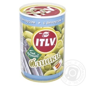 Оливки ITVL зеленые с анчоусом 314мл