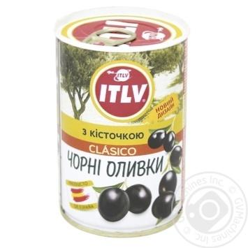 Оливки ITLV черные с косточкой 314мл