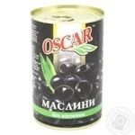 Oscar Pitted Black Olives 300ml