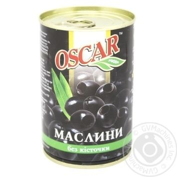 Маслины черные Oscar без косточки 300мл - купить, цены на Novus - фото 1