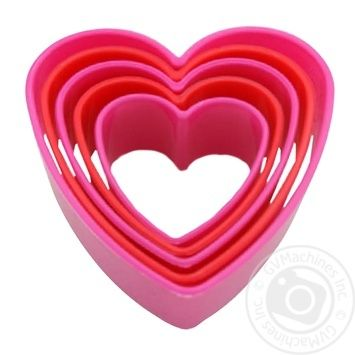 Fackelmann Heart Set of Plastic Forms for Cutting Cookies 5pcs - buy, prices for CityMarket - photo 1