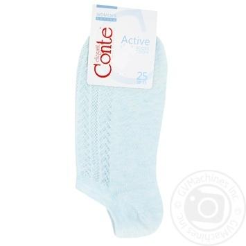 Носки женские Conte Elegant Active ультракороткие бледно-бирюзовый размер 25 - купить, цены на Novus - фото 1
