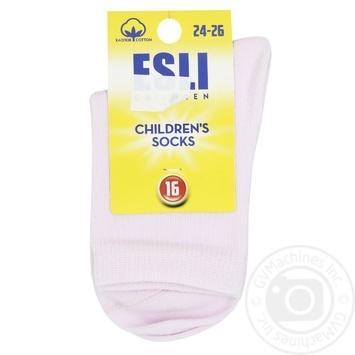 Esli Light-Pink Children's Socks Size 16 - buy, prices for CityMarket - photo 1
