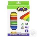 ZiBi Plasticine Kids Line 6 colors 150g - buy, prices for CityMarket - photo 1