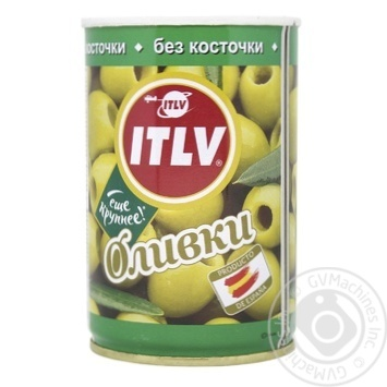 Оливки ITLV зеленые без косточки 314мл - купить, цены на СитиМаркет - фото 1