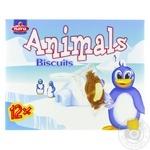 Печенье Nora Animals Biscuits Пингвин с какао 175г