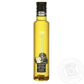 Масло Casa Rinaldi оливковое Экстра Вирджин первого холодного отжима с кусочками трюфелей 250мл - купить, цены на Novus - фото 1