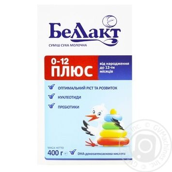 Суміш молочна Беллакт Плюс дитяча суха з народження до 1 року 400г - купити, ціни на ЕКО Маркет - фото 1