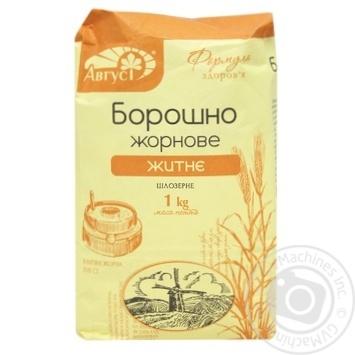 August Whole grain rye flour 1kg - buy, prices for MegaMarket - image 1