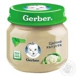 Пюре Гербер овощное цветная капуста без крахмала и соли для детей с 4 месяцев 80г
