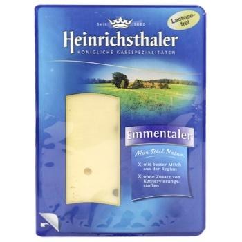 Сир Heinrichsthaler Емменталь нарізка 45% 125г - купити, ціни на CітіМаркет - фото 1