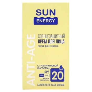 Крем Sun Energy SPF20 для лица солнцезащитный 50мл