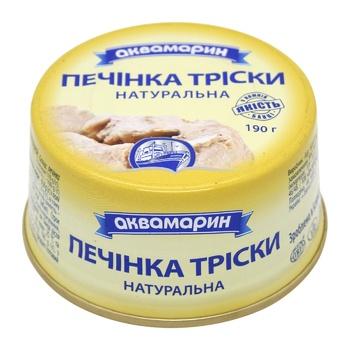 Печень трески Аквамарин натуральная 190г - купить, цены на МегаМаркет - фото 1