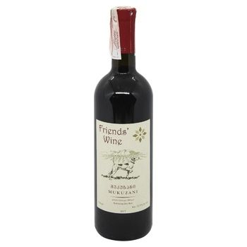 Friends Wine Mukuzani Red Dry Wine 12.5% 0.75l - buy, prices for CityMarket - photo 1