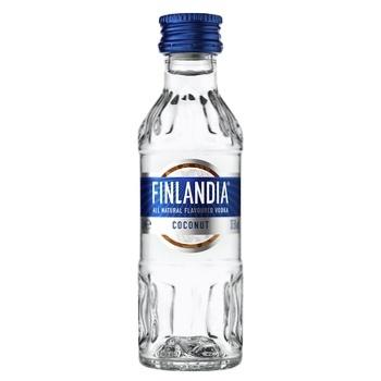 Горілка Finlandia кокос 37,5% 0,05л - купити, ціни на CітіМаркет - фото 1