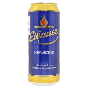 Eibauer Schwarzbier Dark Filtered Beer 4.5% 0.5l - buy, prices for Auchan - photo 1