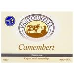 Сыр Pastourelle Камамбер мягкий с пеплом 50% 180г