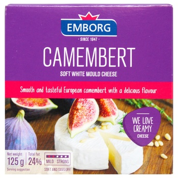 Emborg camembert with mold cheese 50% 125g