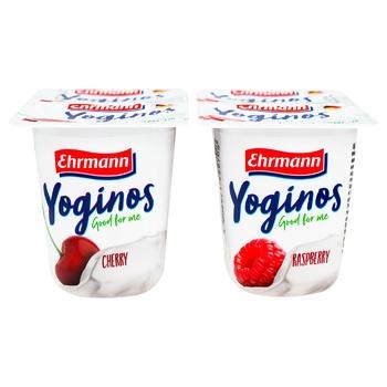 Йогурт Ehrmann Yoginos Вишня/Малина 0,1% 100г