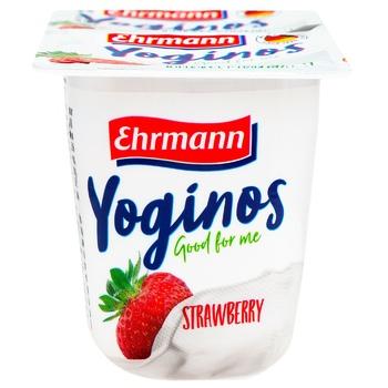 Ehrmann Yoginos Yogurt Strawberry 0,1% 100g
