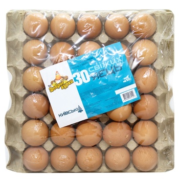 Vid Dobroi Kurky Kyivski Сhicken Eggs С1 30pcs - buy, prices for CityMarket - photo 1